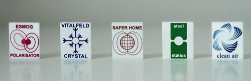 Fünf Module der Raumharmonisierung: esmog Polarisation, Vitalfeld Cystal, Safer Home, steel statics und clean air von raumvital